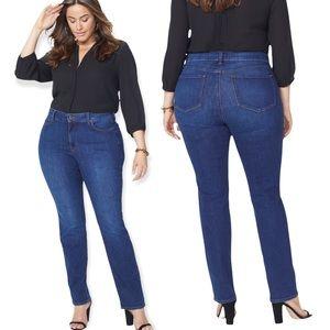 NWT NYDJ Marilyn Straight Jeans In Plus Dark Wash Blue Size 22W WDNM2013